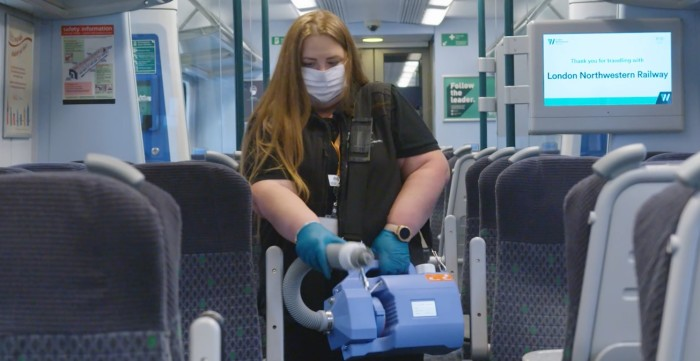 Video: Antiviral fogging machines in action on West Midlands Railway