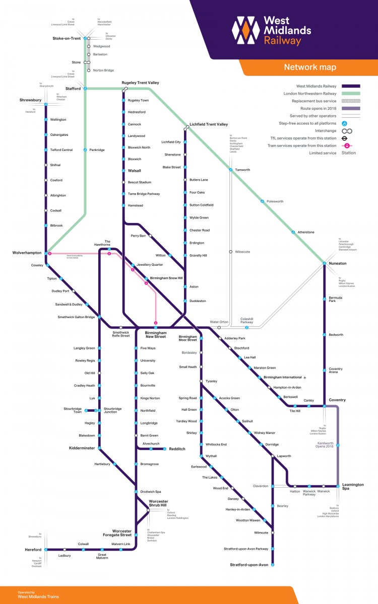 Network Map | West Midlands Railway