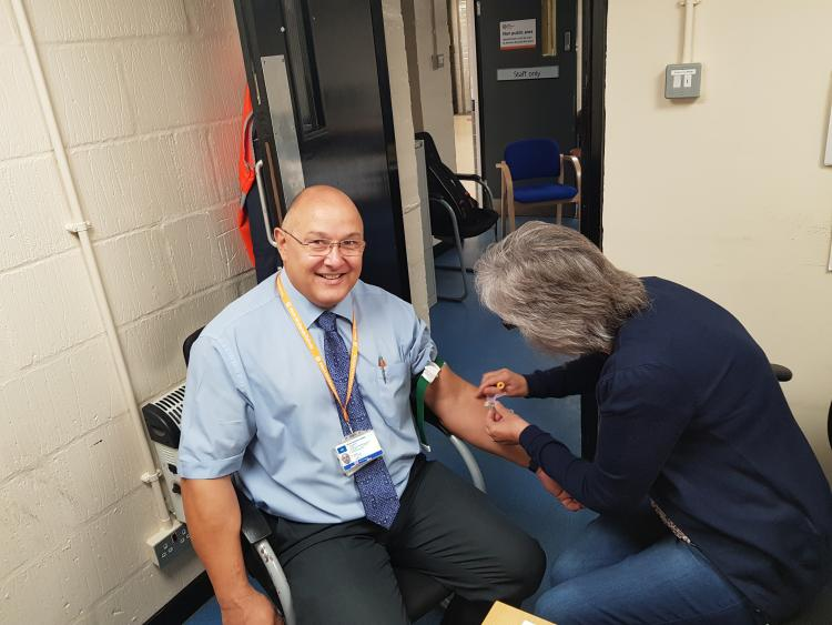 Blood testing at the Health and Wellbeing event