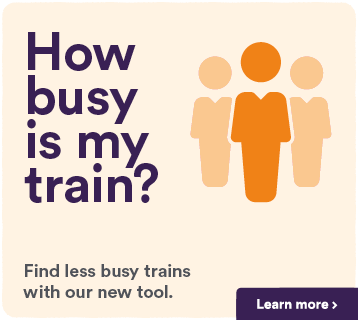 How busy is my train?