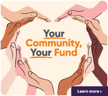Navigation button to the Your Community, Your Fund webpage.
