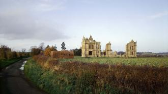 MORETON CORBET CASTLE General view
