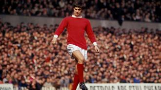 1968: Belfast-born George Best on the pitch for Manchester United
