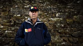 Sir Ranulph Fiennes near his home in Devon ahead of his forthcoming Global Reach Challenge in aid of Marie Curie