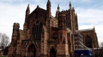 Exterior view of Hereford Cathedral