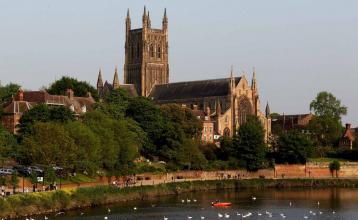 A general view of Worcester Cathedral